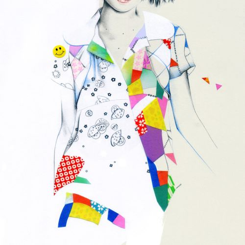 Colorful patchwork dress