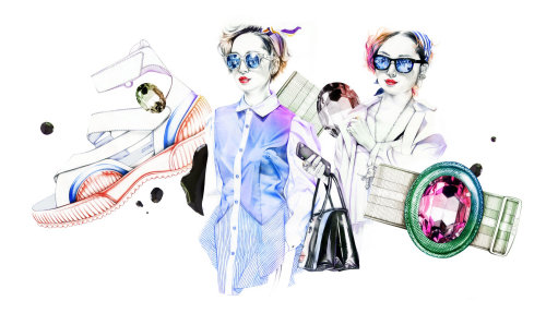 Women's fashion wear illustration