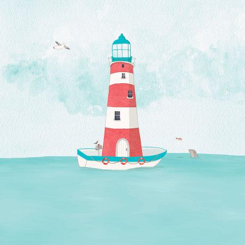 Ilustração de barco por Natalie Kilany
