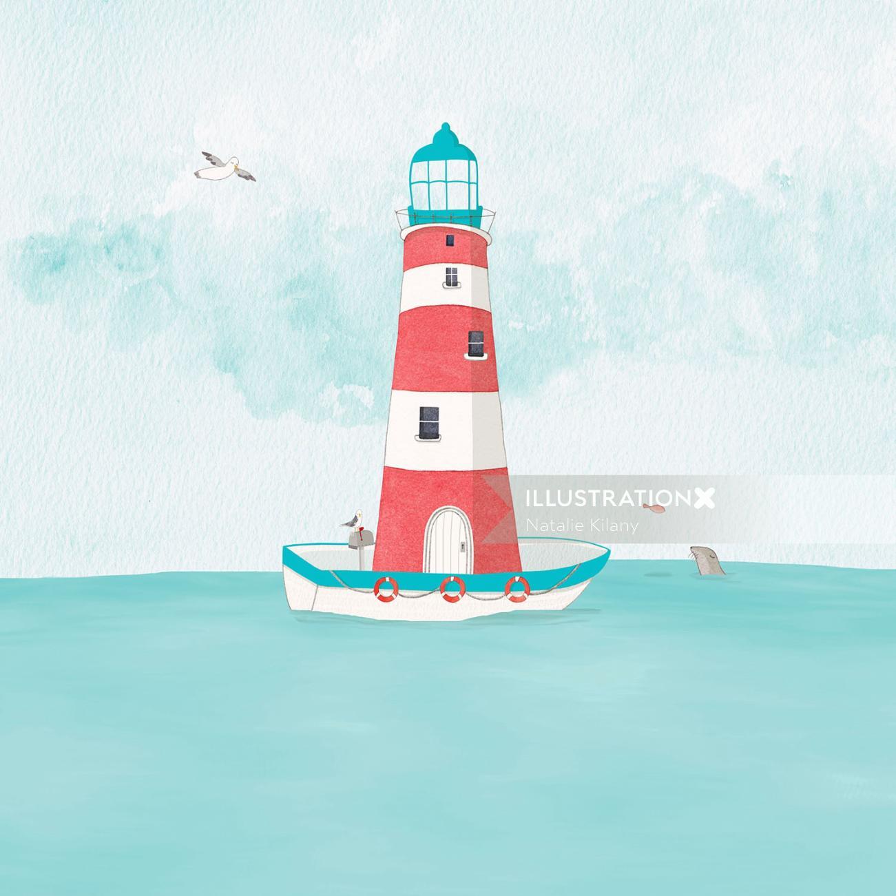 Boat illustration by Natalie Kilany