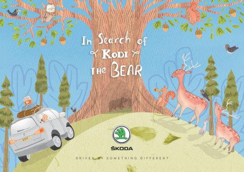 Capa do livro na busca do urso Kodi