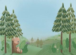 Lost bear illustration