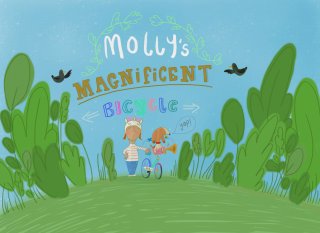 Molly's Magnificent Bicycle picture book cover