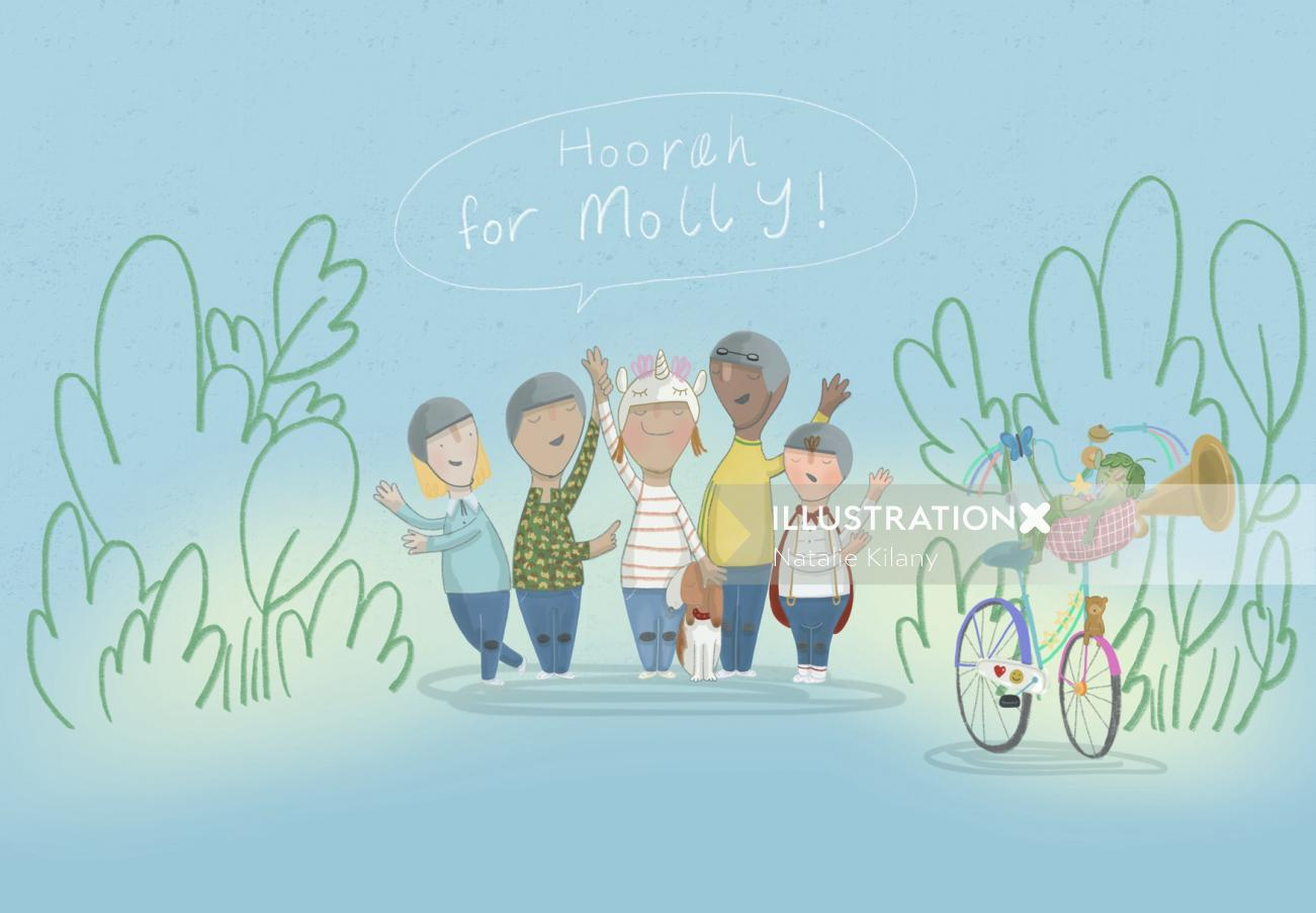 Hoorah for Molly illustration