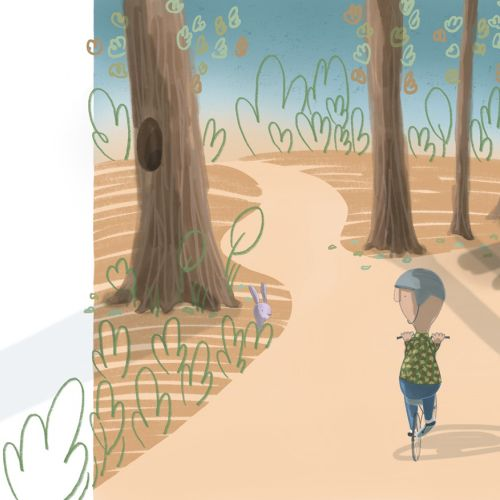 Walking kid illustration