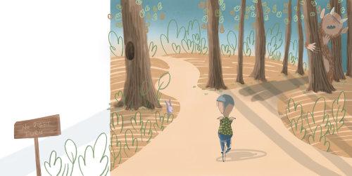Walking kid illustration
