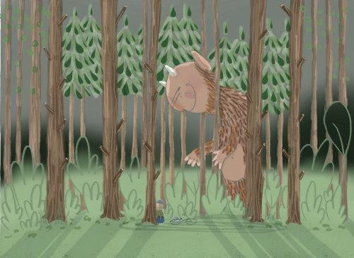 Bear illustration by Natalie kilany