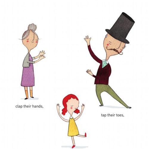 Editorial illustration of family dance