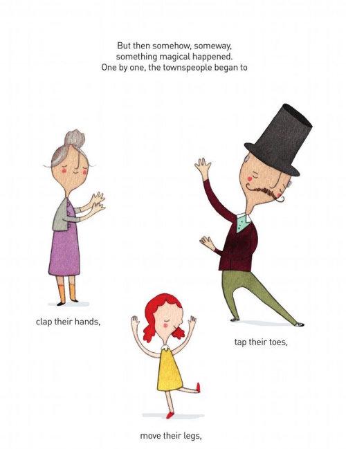 Illustration éditoriale de la danse familiale