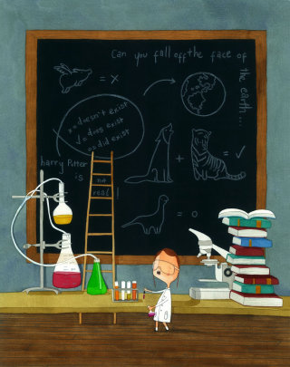 Science and education illustration