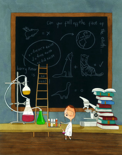Ilustração de ciência e educação