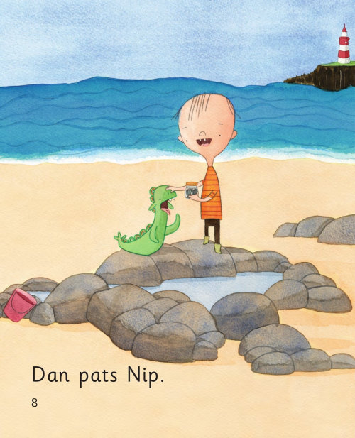 Children's book Dad Nips illustrated by Natalie Kilany