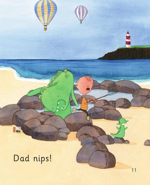 Papai belisca livro para crianças