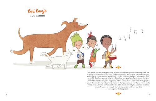 Recueil de chansons pour enfants illustré par Natalie Kilany