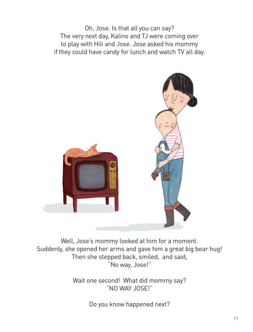 Ilustração em aquarela de mãe e filho