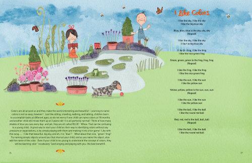 Ilustração do livro de canções de Natalie Kilany
