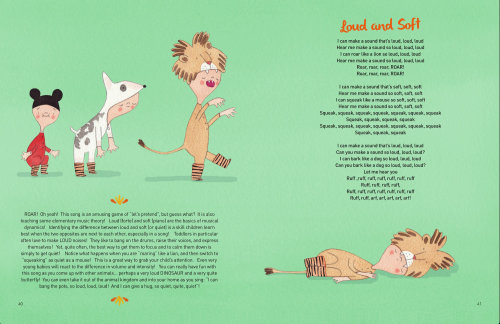 Loud and soft songbook illustration