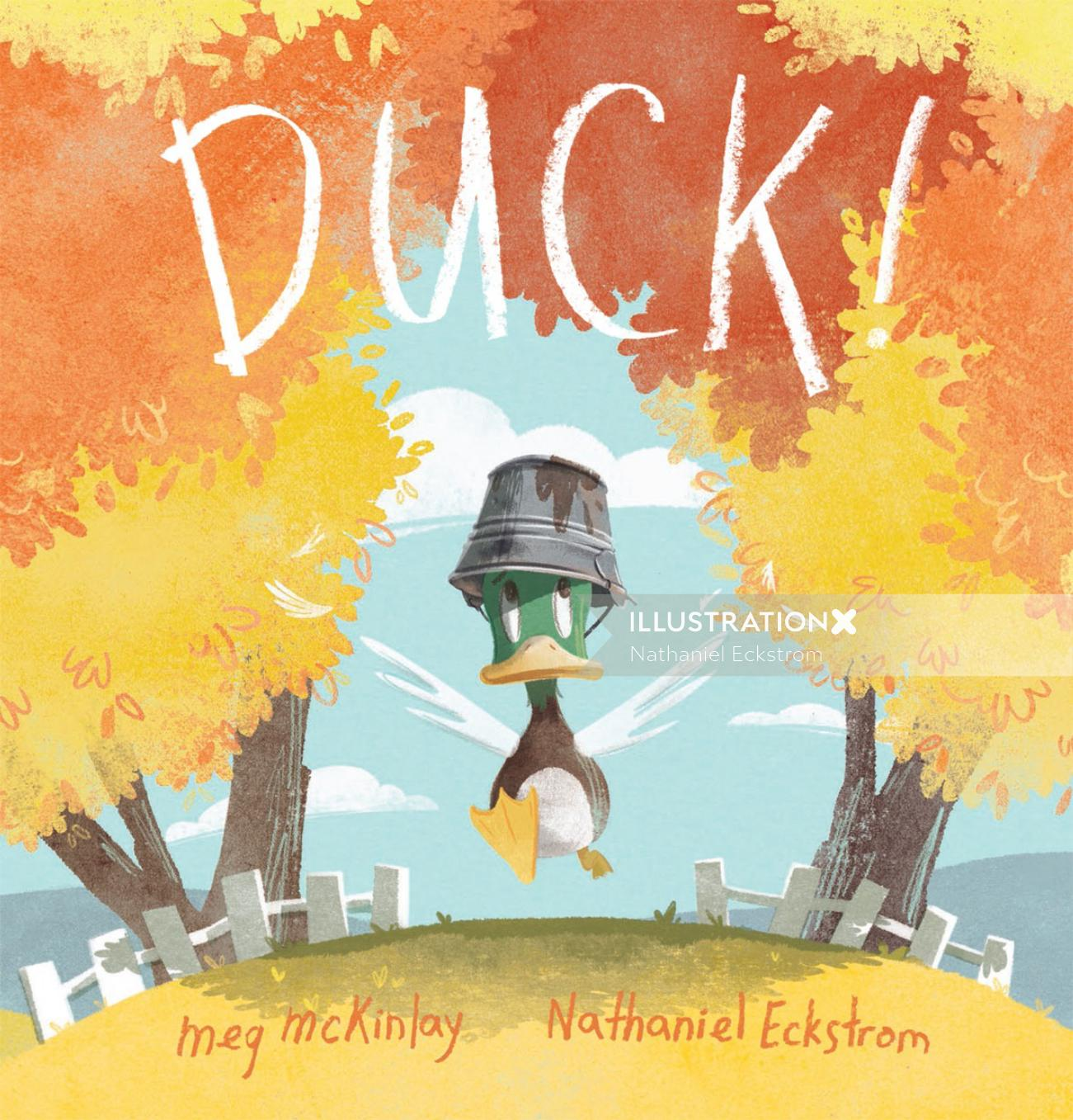 Book Cover for the picture book - DUCK for Walker Books