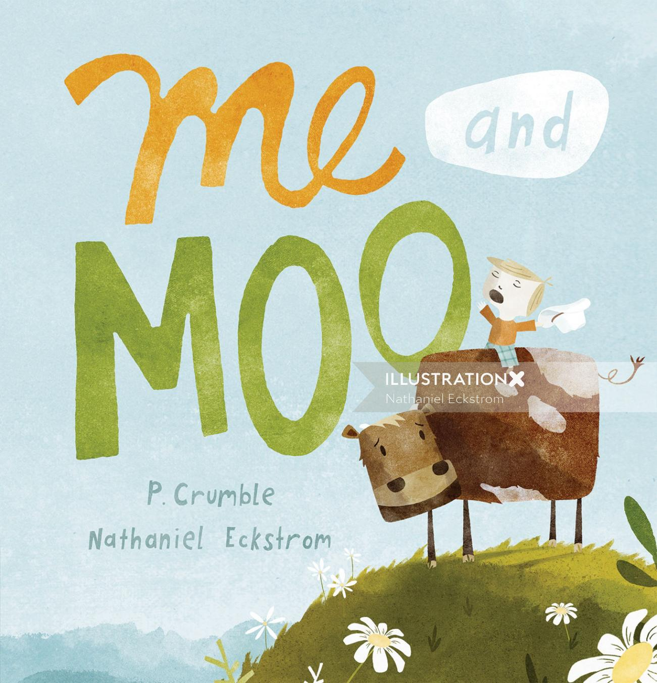 Me & Moo Book Cover Design