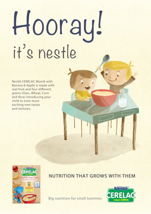 An Illustration For Nestle Cerelac Ad