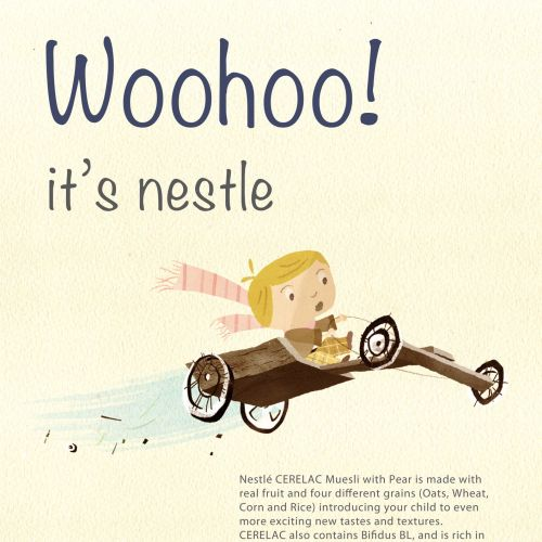 Flying Girl Illustration For Nestle Cerelac