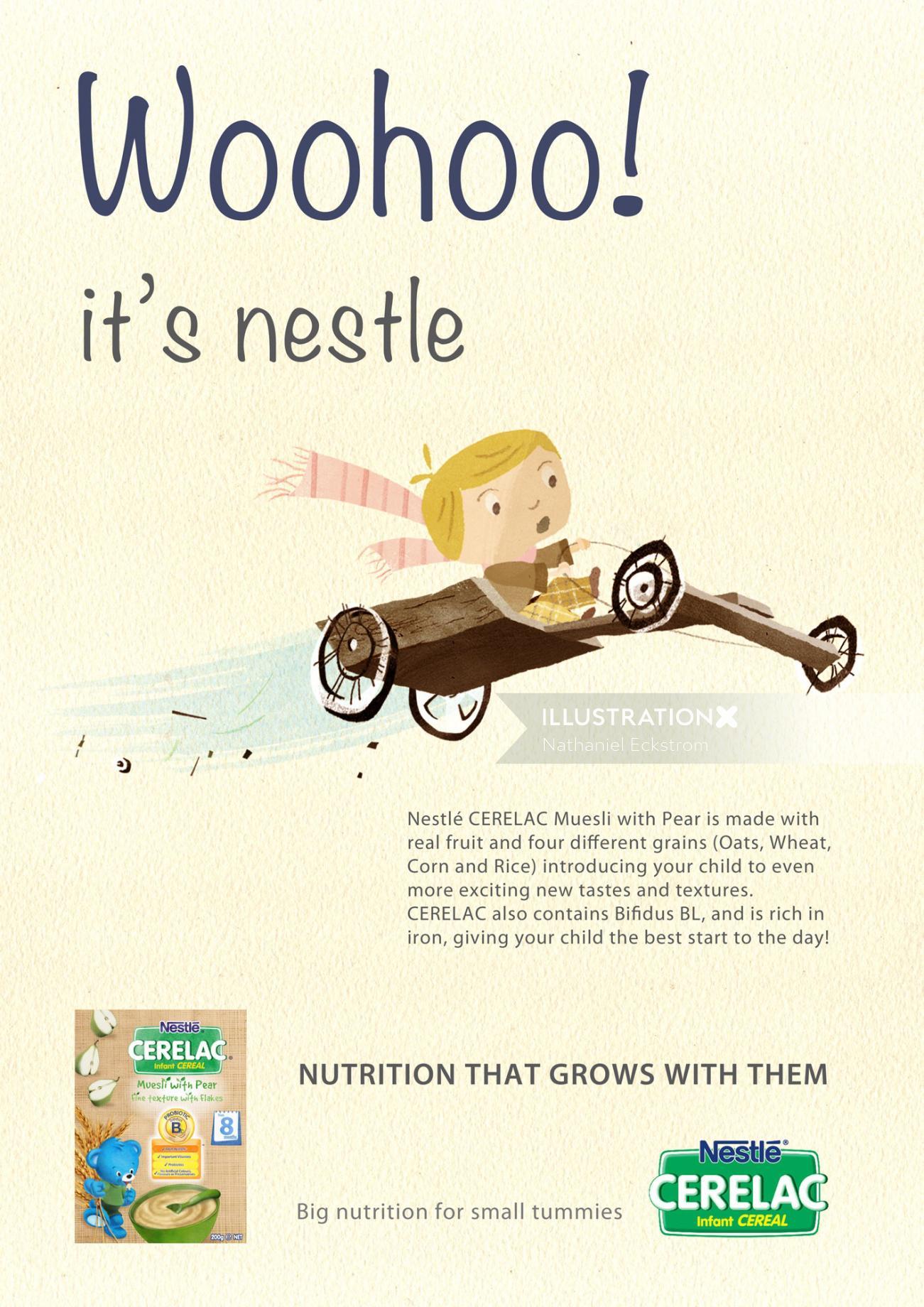 Flying Girl Illustration For Nestle Cerelac