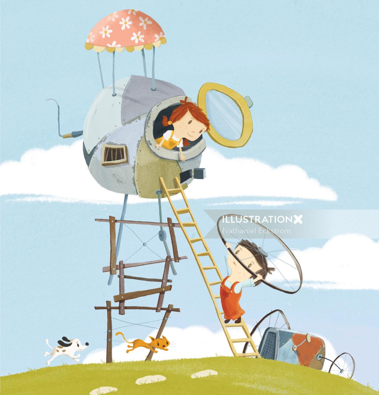 Picture Book Illustration For Stubborn Stanley
