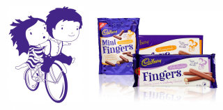 Packaging Illustration For Cadbury Fingers Biscuit