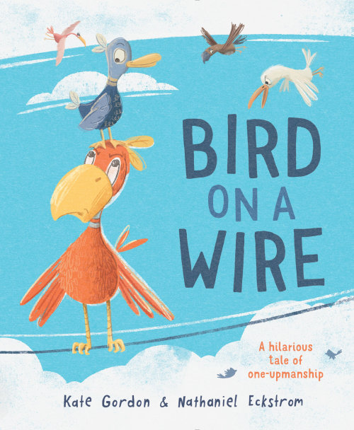 Design de capa de livro Bird on a Wire para Little Hare Publishing