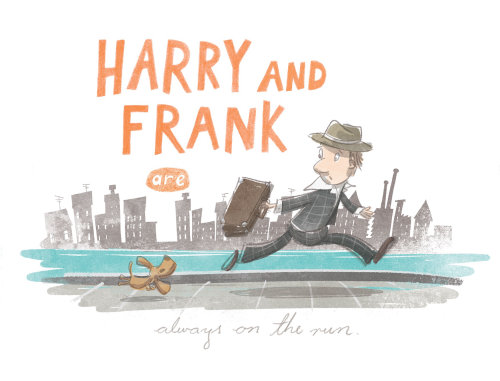 Design de personagens de Harry e Frank