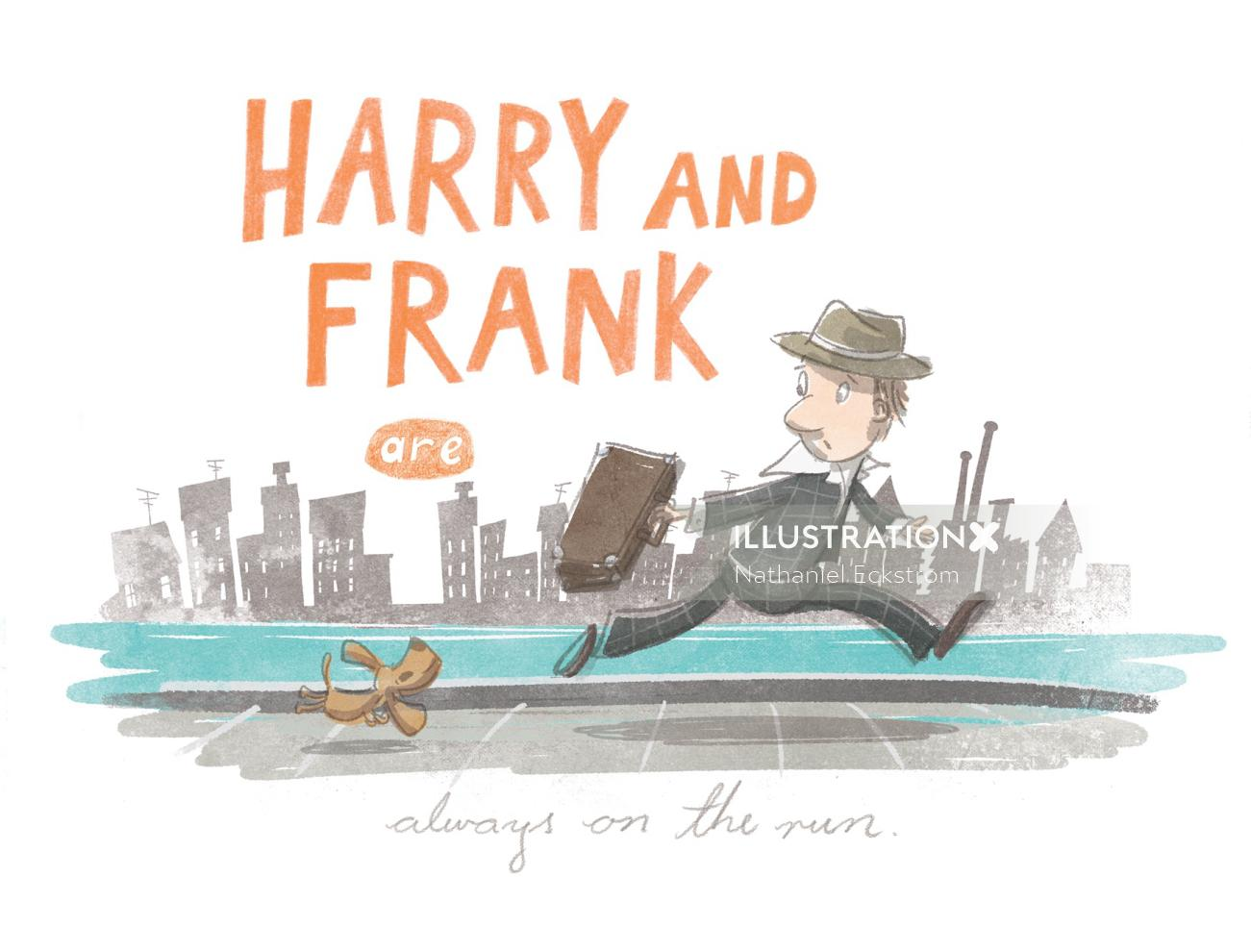 Harry and Frank character design