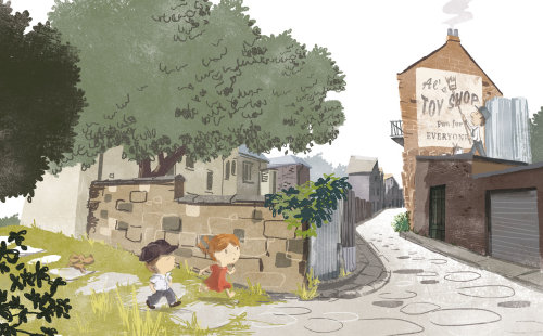 儿童角色设计玩具店