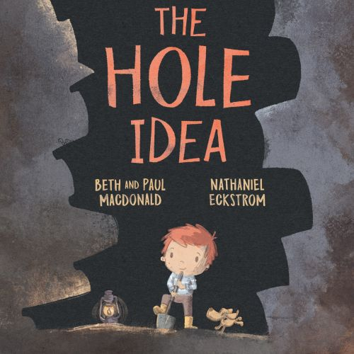 Book cover illustration of the hole idea