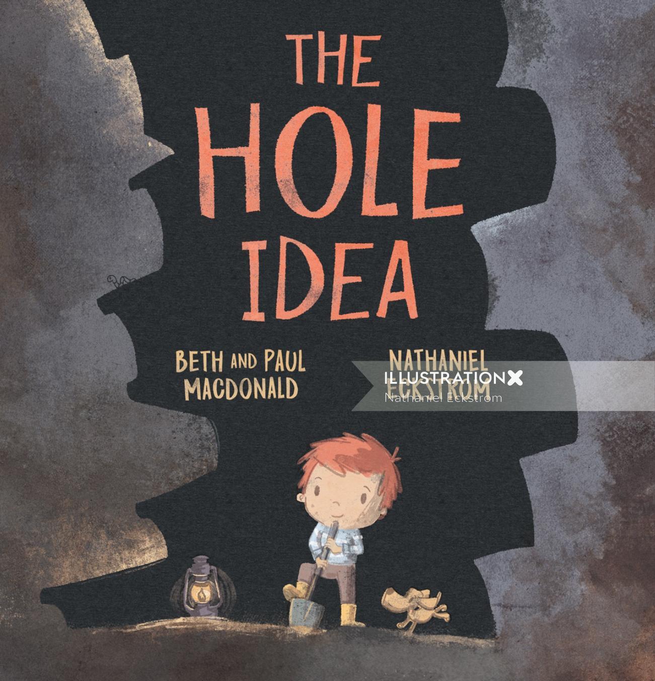 Book cover illustration of the hole idea