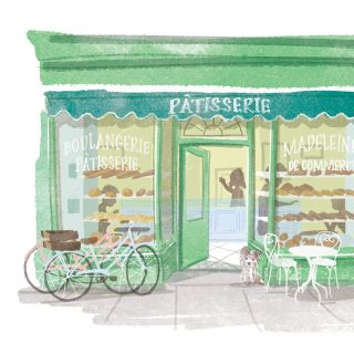 Patisserie, Digital Pencil art for Waitrose Magazine
