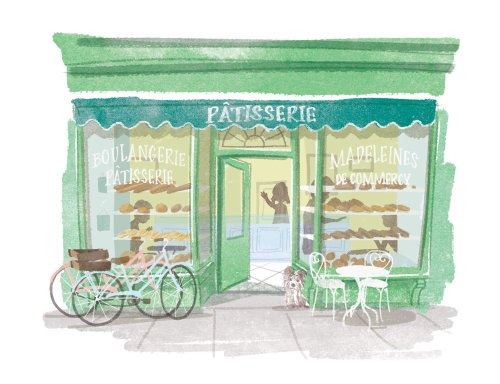 Pastelaria, Arte Digital Pencil para Waitrose Magazine
