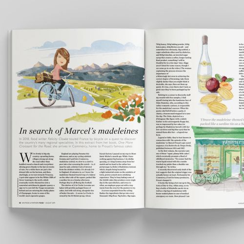 Computer generated Felicity Cloake for waitrose magazine