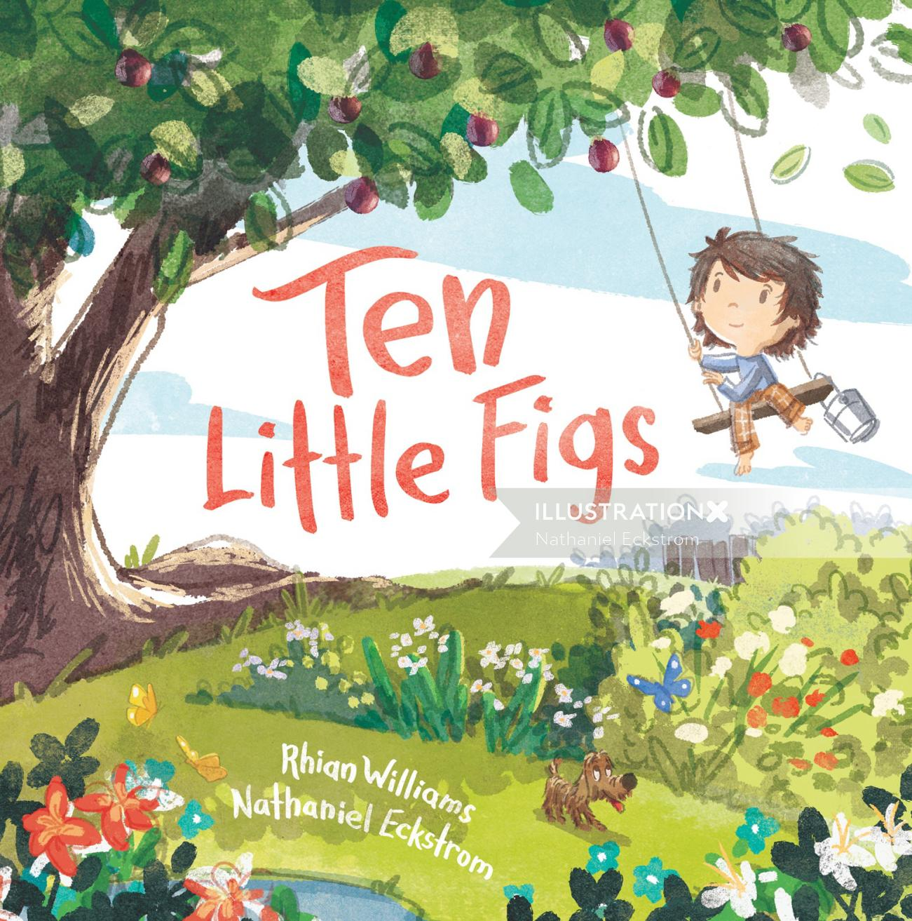 Book cover design of Ten Little Figs for Walker Books