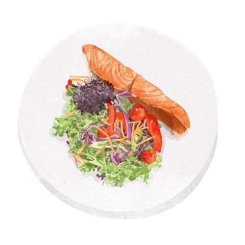Food & drink salmon salad