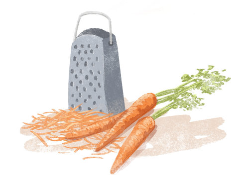 Graphic vegetables carrots with cutter