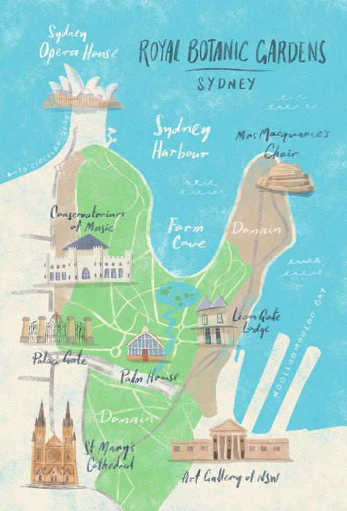 Sydney Botanic Gardens Map