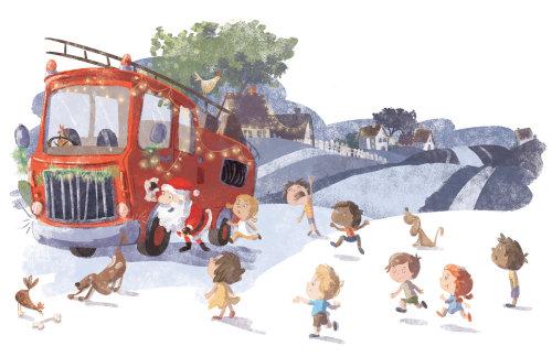 Fire Truck Santa - Picture Book