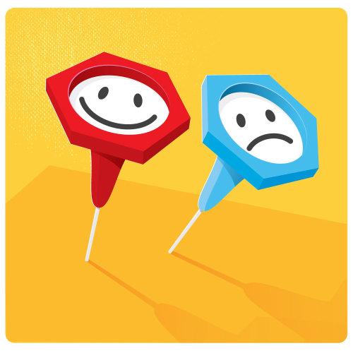 Digital Illustration emoji pin pointer