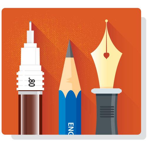 Digital Illustration writing tools