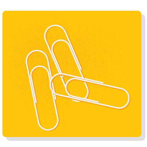 Digital Illustration paper clips
