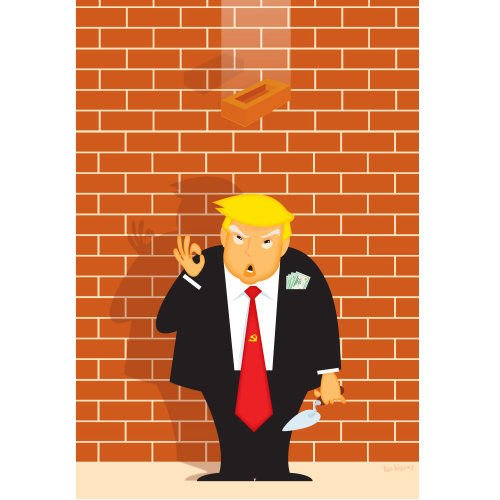 Digital Illustration poltical sarcasm