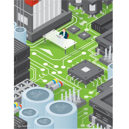 Digital Illustration circuit board
