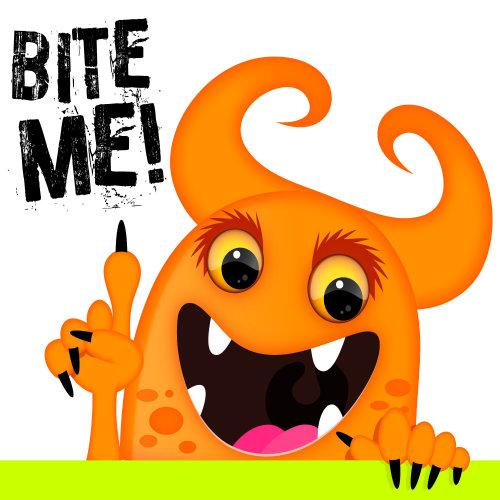 Animal showing Bite Me