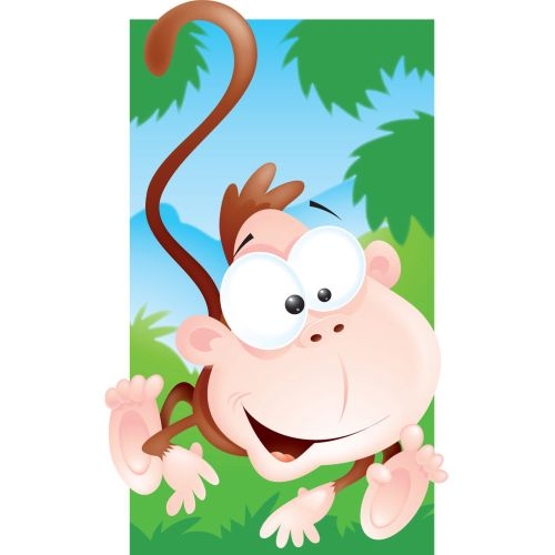 Monkey cartoon illustration