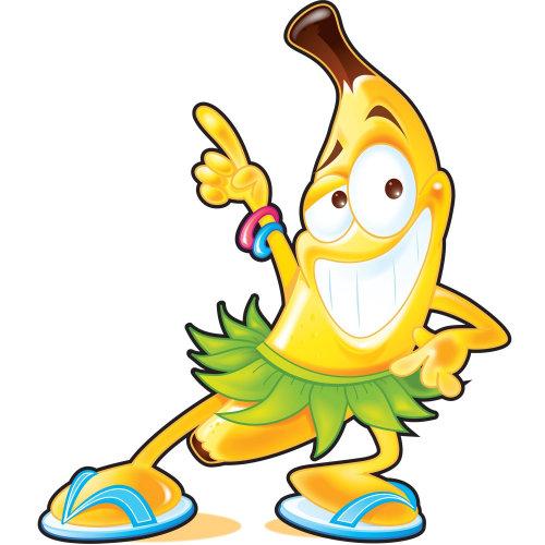 Digital Illustration of smily banana